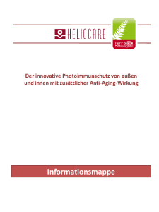 PDF: Heliocare Produktinformation