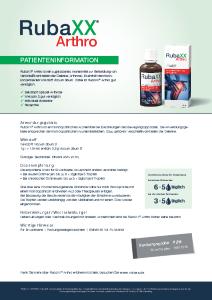 PDF: Rubaxx Arthro Produktinformation