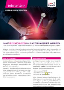 PDF: Doloctan® forte Verbrauchsinfo