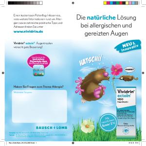 PDF: Flyer Vividrin Ectoin bei Allergie