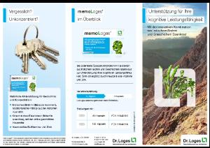 PDF: memoLoges im Überblick