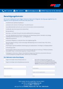 PDF: Berechtigungsformular Schnelltest
