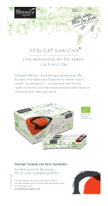 PDF: Rezeptkarte für Matcha von Sidroga
