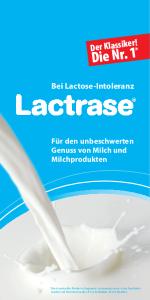 PDF: Bei Lactose-Intoleranz: Lactrase