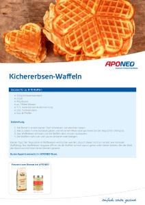 PDF: Rezeptidee – Kichererbsen-Waffeln