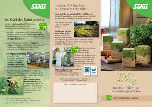 PDF: Kraft der Natur Tees von Salus