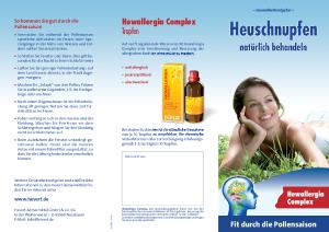 PDF: Gesundheitsratgeber Heuschnupfen